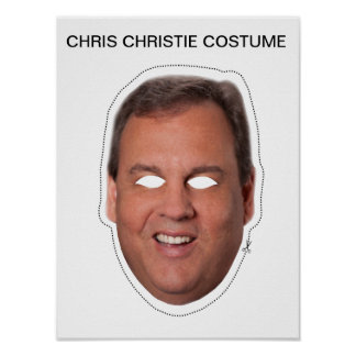 Chris Christie Costume Poster