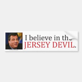 Chris Christie: Creo en el diablo del jersey Pegatina De Parachoque