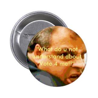 ¡Chris Christie - en quién lookin de u?! Pin Redondo De 2 Pulgadas