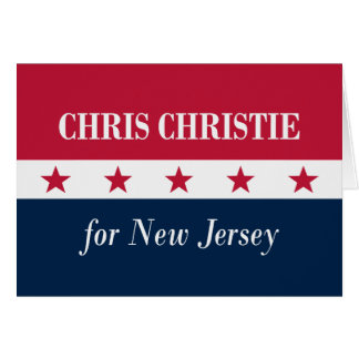 Chris Christie for New Jersey Card