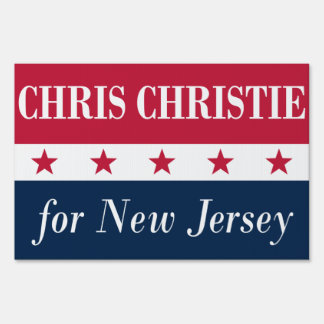 Chris Christie for New Jersey Lawn Signs