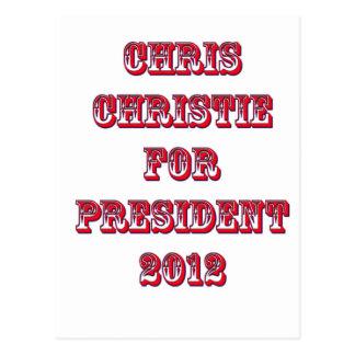 Chris Christie for President 2012 Postcard