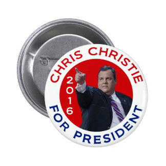 Chris Christie For President 2016 2 Inch Round Button