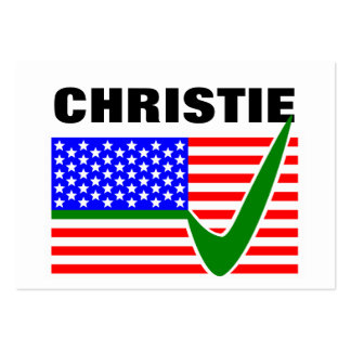 Chris Christie for President 2016 Large Business Cards (Pack Of 100)