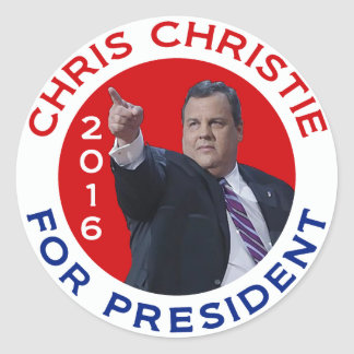 Chris Christie For President 2016 Classic Round Sticker