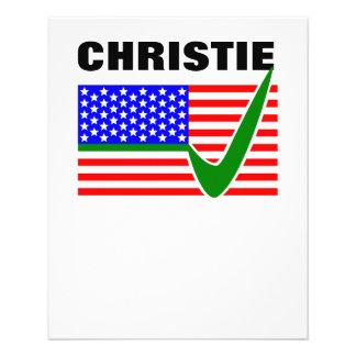 Chris Christie for President 2016 Flyer