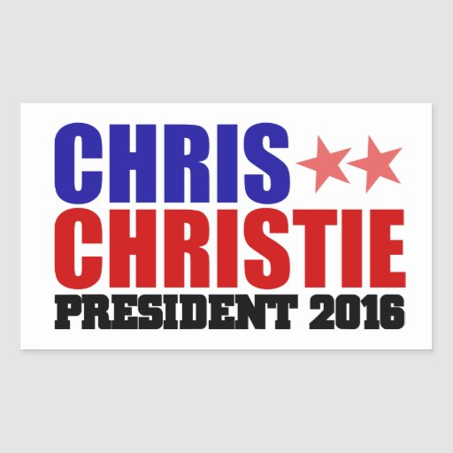Chris Christie for President 2016 sticker