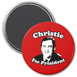 CHRIS CHRISTIE FOR PRESIDENT 3 INCH ROUND MAGNET