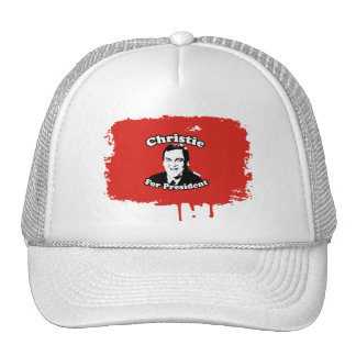 CHRIS CHRISTIE FOR PRESIDENT TRUCKER HAT