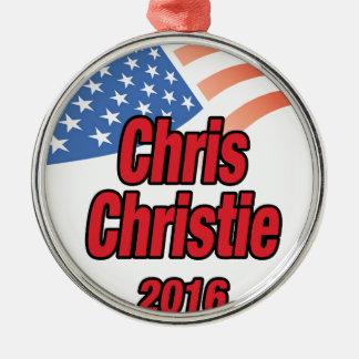 Chris Christie for president in 2015 Metal Ornament