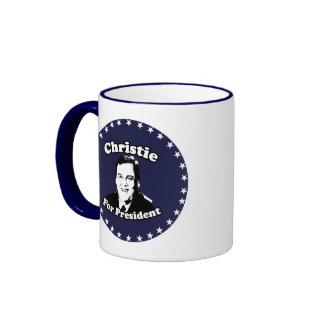 CHRIS CHRISTIE FOR PRESIDENT COFFEE MUGS