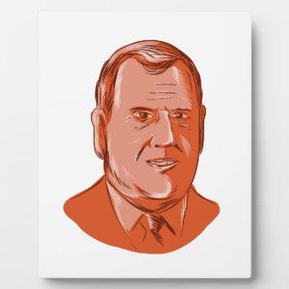 Chris Christie Governor New Jersey Plaque