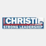 Chris Christie Governor Strong Leadership Sticker