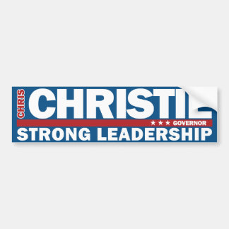 Chris Christie Governor Strong Leadership Sticker Bumper Stickers