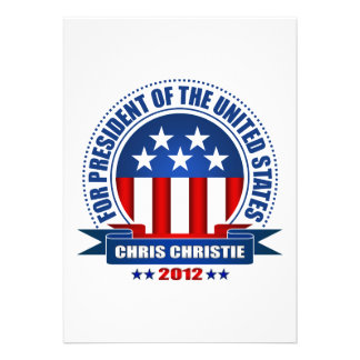 Chris Christie Custom Invitation