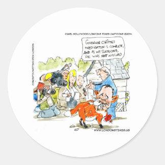 Chris Christie Like A Fox Funny Classic Round Sticker