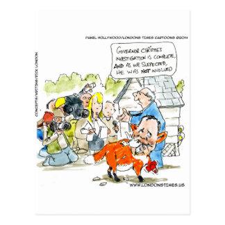 Chris Christie Like A Fox Funny Postcard