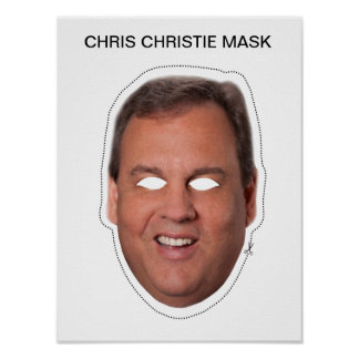 Chris Christie Mask Poster