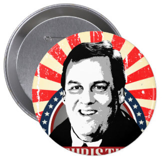 CHRIS CHRISTIE NAMEPLATE -.png Pinback Button