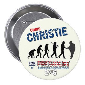 Chris Christie para el presidente 2016 Pin Redondo 7 Cm