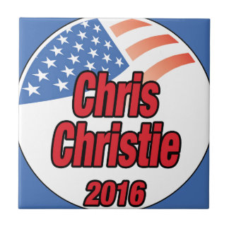 Chris Christie para el presidente en 2015 Azulejo Cuadrado Pequeño