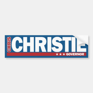 Chris Christie para la pegatina para el parachoque Pegatina Para Auto
