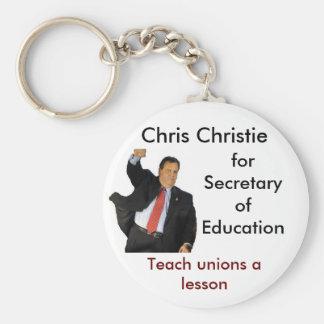 Chris Christie para la secretaria de la educación Llavero