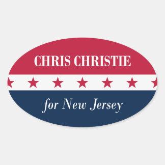 Chris Christie para New Jersey Colcomanias Óval