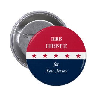 Chris Christie para New Jersey Pin