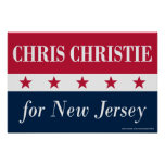 Chris Christie para New Jersey Poster