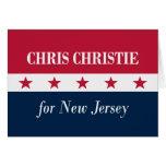 Chris Christie para New Jersey Tarjeta De Felicitación