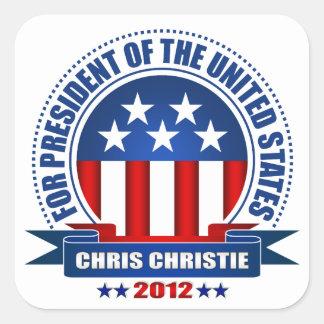 Chris Christie Pegatina Cuadrada