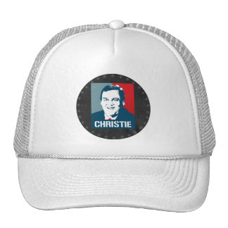 CHRIS CHRISTIE POSTER TRUCKER HAT