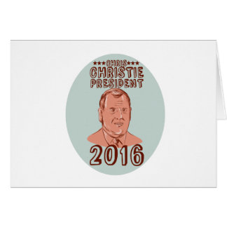 Chris Christie President 2016 Oval Card
