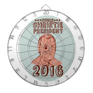 Chris Christie President 2016 Oval Dartboard