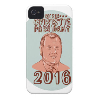 Chris Christie President 2016 Oval iPhone 4 Case-Mate Case