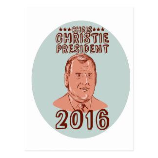 Chris Christie President 2016 Oval Postcard