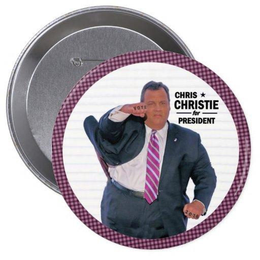 Chris Christie President in 2016 Pinback Button