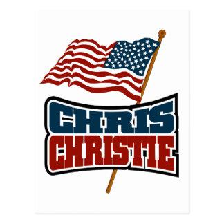 Chris Christie Proud American Postcard
