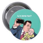 Chris Christie Selfie Pinback Buttons