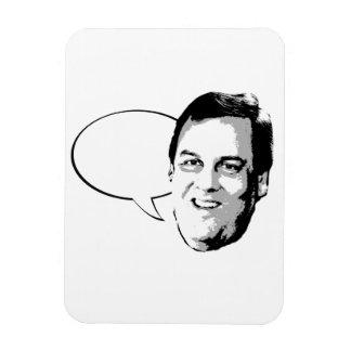 CHRIS CHRISTIE TALK BUBBLE -.png Rectangular Photo Magnet