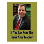 Chris Christie Thank Your Teacher Postcard
