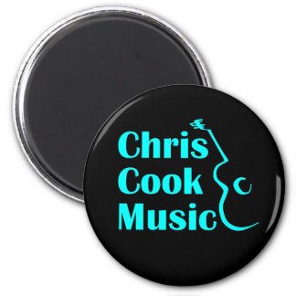 Chris Cook Music Round Magnet
