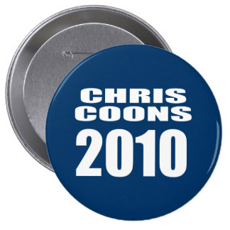 CHRIS COONS FOR SENATE PINBACK BUTTONS