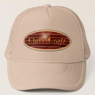 chris Craft  Boats oval Trucker Hat