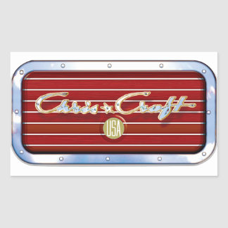 Chris Craft Boats Rectangular Sticker