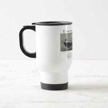 Coffee Themed Chris Craft Coffee Travel Mug Cup with Lid