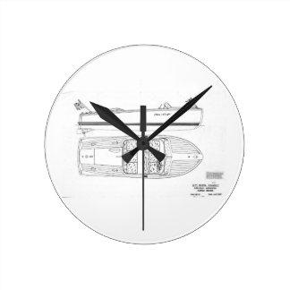 Chris Craft Riviera Runabout Boat Wall Clock