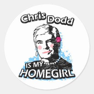 Chris Dodd is my homegirl Classic Round Sticker