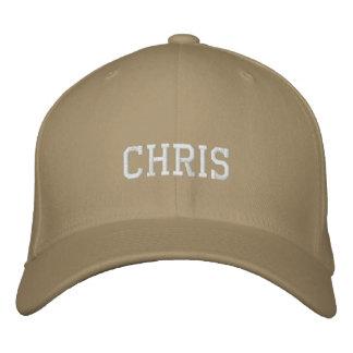 Chris Embroidered Baseball Hat